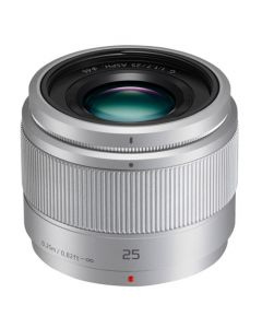 Panasonic 25mm f/1.7 Lumix G Lens - Silver