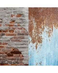 Lastolite 5713 Urban Collapsible 1.5 x 2.1m - Rusty Metal/Plaster Wall