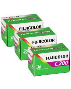 3 x Fuji Fujicolor C200 Film Pack 135 (36 Exposures)