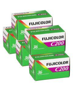 5 x Fuji Fujicolor C200 Film Pack 135 (36 Exposures)