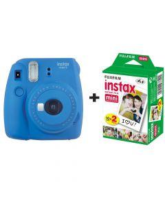 Fujifilm Instax Mini 9 Instant Camera with 20 Shots - Cobalt Blue