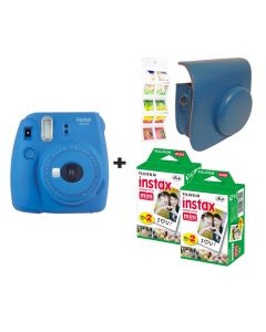 Fujifilm Instax Mini 9 Cobalt Blue + 40 shots + Case + FREE Wall Album