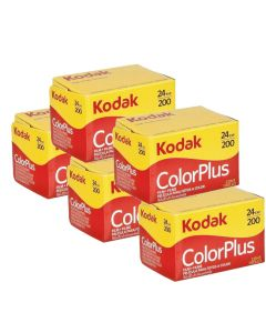 5 x Kodak ColorPlus 200 Film Pack 135 (24 Exposures)