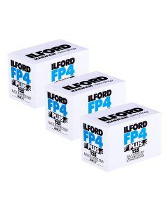 3 x Ilford FP4 Plus 35mm film (24 exposure)