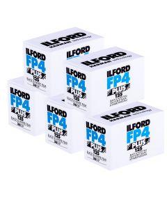 5 x Ilford FP4 Plus 35mm film (36 exposure)