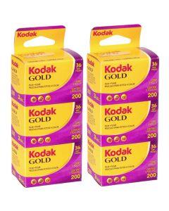 6 x Kodak Gold 200 Film Pack 135 (36 Exposures)