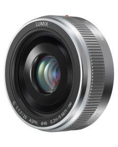 Panasonic 20mm f/1.7 II Lumix G Pancake Lens - Silver