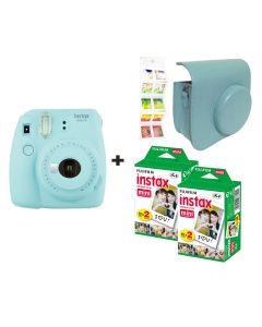 Fujifilm Instax Mini 9 Ice Blue + 40 shots + Case + FREE Wall Album