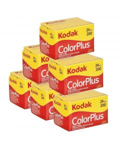 6 x Kodak ColorPlus 200 Film Pack 135 (24 Exposures)
