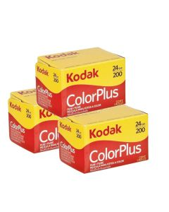 3 x Kodak ColorPlus 200 Film Pack 135 (24 Exposures)