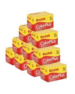 10 x Kodak ColorPlus 200 Film Pack 135 (24 Exposures)