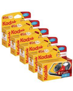 5 x Kodak Fun Flash Disposable Camera (39 Exposures)