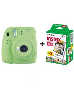 Fujifilm Instax Mini 9 Instant Camera with 20 Shots - Lime Green