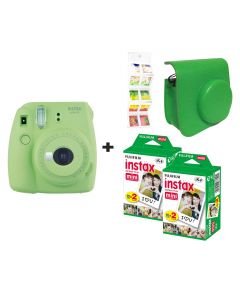Fujifilm Instax Mini 9 Lime Green + 40 shots + Case + FREE Wall Album