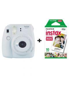 Fujifilm Instax Mini 9 Instant Camera with 10 Shots - Smokey White