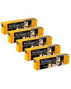 5 x Kodak Pro Image 100 Professional Film 135 36 Exp (5 Pack)