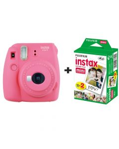 Fujifilm Instax Mini 9 Instant Camera with 20 Shots - Flamingo Pink