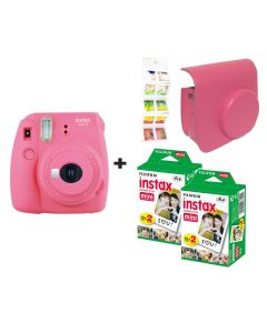 Fujifilm Instax Mini 9 Flamingo Pink + 40 shots + Case + FREE Wall Album