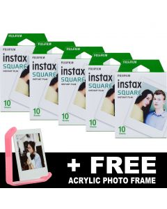 Fujifilm Instax SQUARE Instant Film (50 Shots) + FREE Acrylic Frame