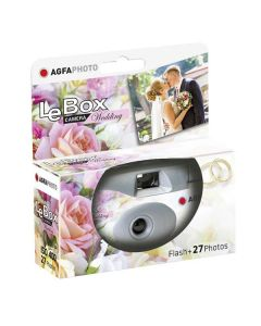 AgfaPhoto LeBox 400 Wedding Disposable Camera with Flash (27 Exp)