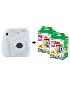 Fujifilm Instax Mini 9 Instant Camera with 40 Shots - Smoke White