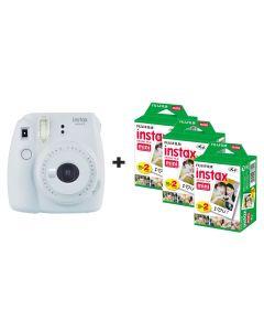 Fujifilm Instax Mini 9 Instant Camera with 60 Shots - Smoke White