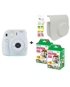 Fujifilm Instax Mini 9 Smoke White + 40 shots + Case + FREE Wall Album